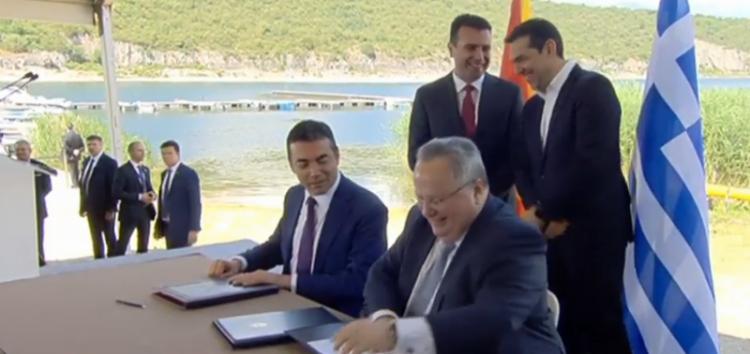 Υπεγράφη η συμφωνία στις Πρέσπες – Μακεδόνες αποκάλεσε τον λαό του ο Ζάεφ!