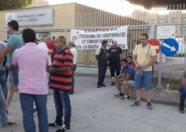 Μέλη της ΓΕΝΟΠ – ΔΕΗ απέκλεισαν την πύλη του ΑΗΣ Μελίτης