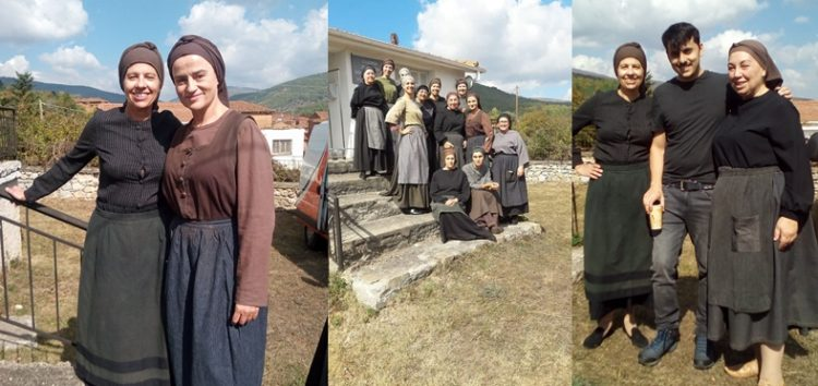 Ο Σύλλογος Κιουταχειωτών Μικρασιατών  Φλώρινας στα γυρίσματα της τηλεοπτικής σειράς «Η ζωή εν τάφω» (pics)