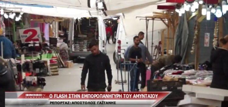 Η τηλεόραση του FLASH στην εμποροπανήγυρη Αμυνταίου (video)