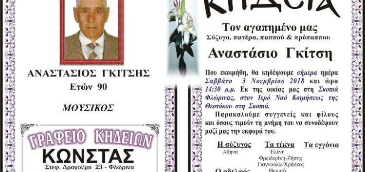 Κηδεία Αναστάσιου Γκίτση, ετών 90