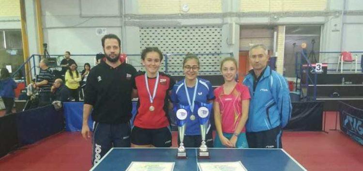 Πρωταθλήτρια Ελλάδας η Φωτιάδου στο διπλό των νέων γυναικών