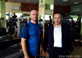 Επίσκεψη του βουλευτή Γιάννη Αντωνιάδη στο γυμναστήριο Oxygen στο Αμύνταιο