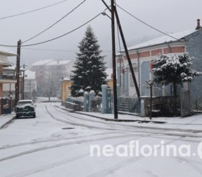 Στα λευκά ντύθηκε και η πόλη της Φλώρινας (pics)