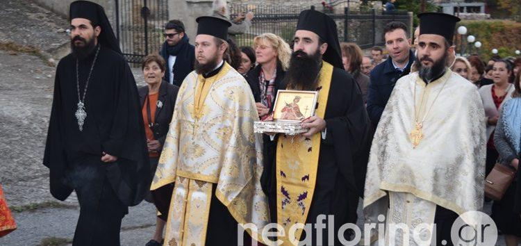 Η υποδοχή του Ιερού Λειψάνου της Αγίας Αικατερίνης του Σινά στη Δροσοπηγή (video, pics)