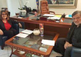 Συνάντηση του βουλευτή Φλώρινας Κωνσταντίνου Σέλτσα με την υφυπουργό Αγροτικής Ανάπτυξης
