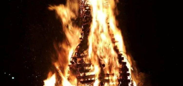 Το άναμμα της Φωτιάς στην Αχλάδα (pics)
