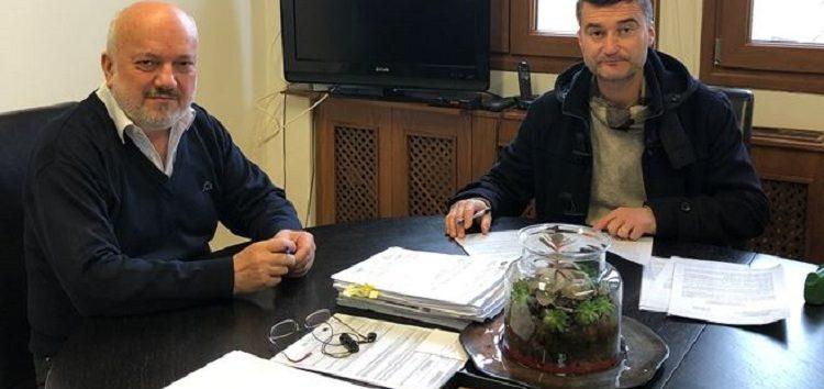 Υπογραφή σύμβασης εκτέλεσης του έργου αποκατάστασης διαγραμμίσεων και οριζόντιας σήμανσης στις οδούς του Αμυνταίου