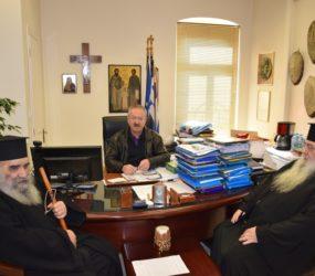 Συνάντηση δημάρχου Φλώρινας με εκπροσώπους της εκκλησίας – Συζήτηση για ανέγερση ναού στο όνομα του Αγ. Αγαθαγγέλου