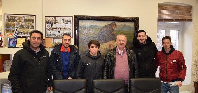 Συνάντηση του δημάρχου Φλώρινας με εκπροσώπους της ποδοσφαιρικής ομάδας του ΠΑΣ Φλώρινα (pics)