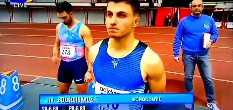Τέταρτος ο Γιάννης Βοσκόπουλος στα 60 μ. του Πανελληνίου Πρωταθλήματος Κλειστού Στίβου (video)