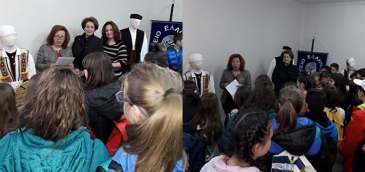 Ξενάγηση μαθητών του δημοτικού σχολείου Μελίτης στα γραφεία του Λυκείου των Ελληνίδων Φλώρινας