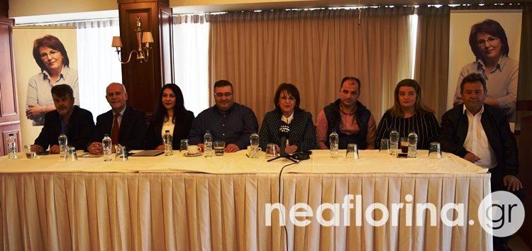 Υποψήφιους του συνδυασμού της στην Π.Ε. Φλώρινας παρουσίασε η Γεωργία Ζεμπιλιάδου (video, pics)