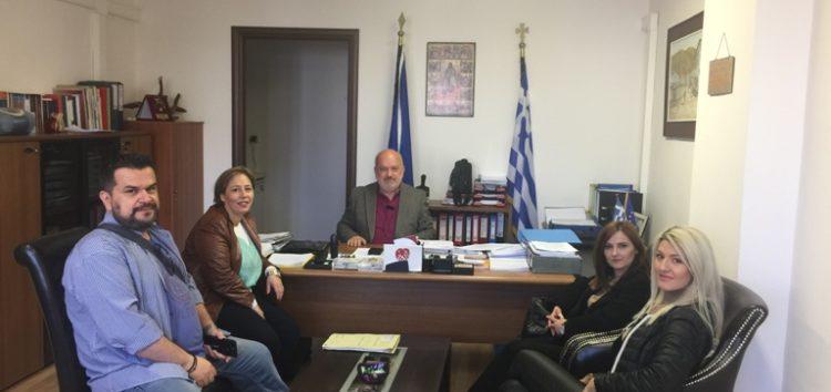 H προσωρινή διοίκηση του Πολιτιστικού Συλλόγου «Αμύντα» επισκέφτηκε τον δήμαρχο Αμυνταίου