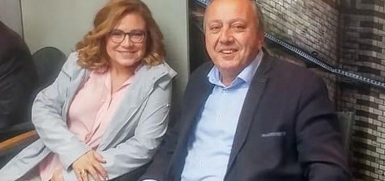 Την ευρωβουλευτή Μαρία Σπυράκη υποδέχτηκε ο υποψήφιος δήμαρχος Φλώρινας Στάθης Κωνσταντινίδης