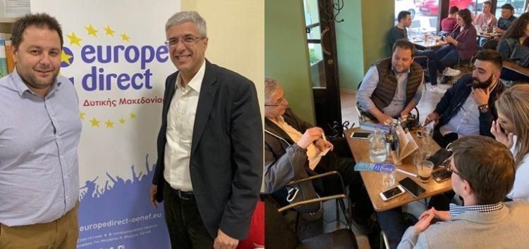 Επίσκεψη του Νίκου Γιαννή, στελέχους της Ευρωπαϊκής Επιτροπής και υπ. ευρωβουλευτή στο Κέντρο Ευρωπαϊκής Πληροφόρησης – Europe Direct