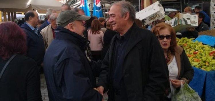 Επισκέψεις του δημοτικού συνδυασμού «Επανεκκίνηση» στη λαϊκή αγορά και τα μαγαζιά της Φλώρινας