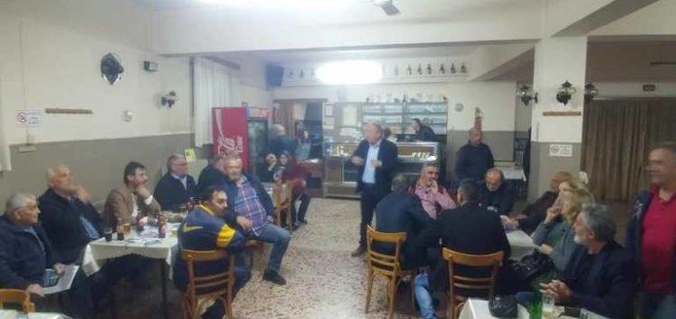 Συνεχίζονται οι επισκέψεις του Στάθη Κωνσταντινίδη σε κοινότητες του δήμου Φλώρινας