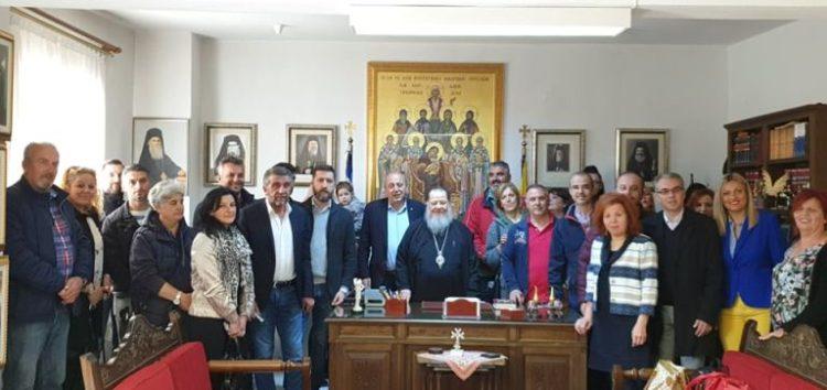 Επίσκεψη στον Μητροπολίτη του επικεφαλής και των μελών του συνδυασμού «Ενότητα – Συνεργασία»