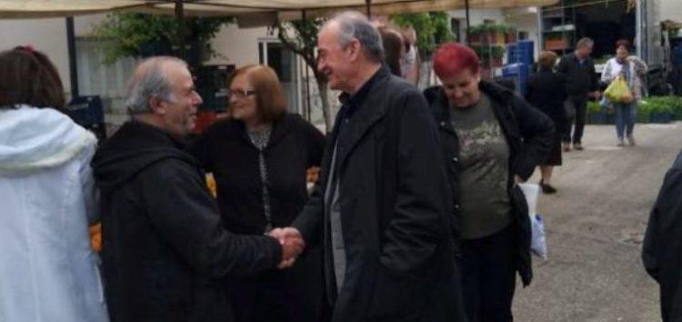 Επίσκεψη του υποψήφιου δημάρχου Φλώρινας Δημήτρη Φαρμακιώτη στη λαϊκή αγορά Μελίτης (pics)