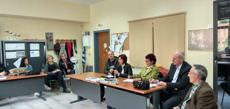 Επίσκεψη της νέας προέδρου της Επιστημονικής Επιτροπής Πρότυπων και Πειραματικών Σχολείων στο Πειραματικό Δημοτικό Σχολείο Φλώρινας
