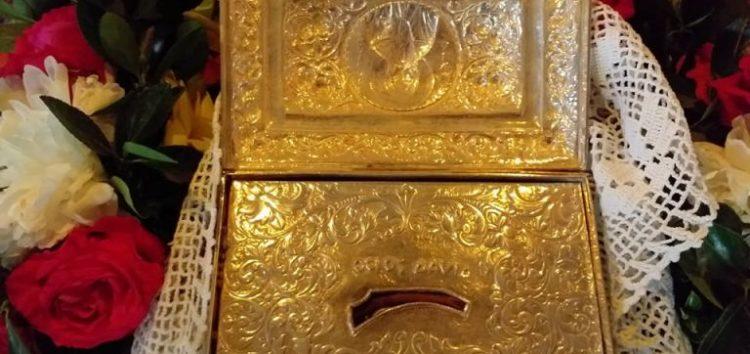 Υποδοχή στην Αχλάδα του ιερού λειψάνου του Οσίου Δαυίδ (videos, pics)