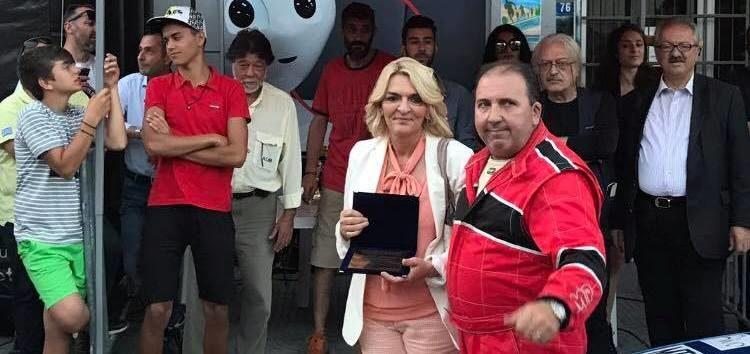 Η Πέτη Πέρκα στην 1η Ανάβαση Φλώρινας – Τιμήθηκε για τη συμβολή της στην επιτυχημένη διοργάνωση