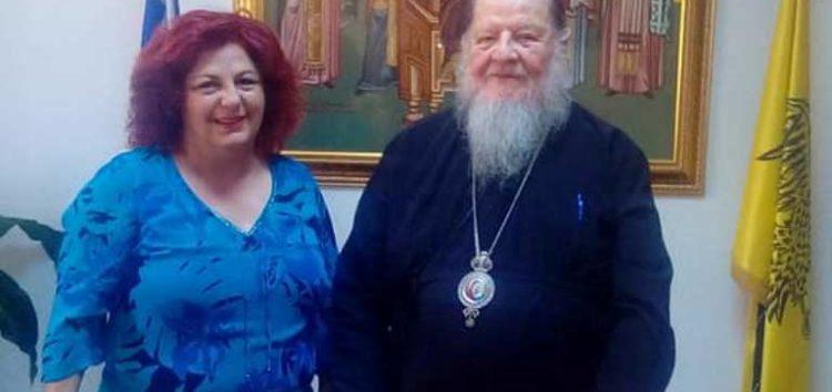 Η ευχή του Σεβασμιώτατου στην υποψήφια βουλευτή Φλώρινας Ελένη Κακαρέτσα – Μαρτσούλη