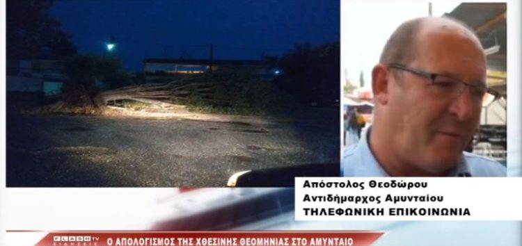 Ο απολογισμός της χθεσινής θεομηνίας στην περιοχή του Αμυνταίου (video)