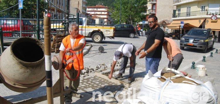 Ολοκληρώνονται τα έργα επισκευής επί της Λεωφόρου Ελευθερίας, στον ποταμό Σακουλέβα (pics)