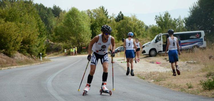 Άπιαστη η Βούλα Λαδοπούλου στην ανάβαση Βιτσίου – Χρυσό μετάλλιο στην πρώτη ημέρα του διεθνή αγώνα Roller Ski