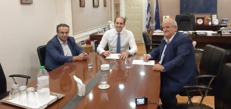 Συνάντηση του βουλευτή Γιάννη Αντωνιάδη και του δημάρχου Πρεσπών με τον υφυπουργό Οικονομικών