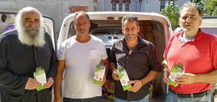Δωρεάν φρέσκα φρούτα μοίρασαν σε ιδρύματα της Φλώρινας τα μέλη του συνεταιρισμού «Ορεινά Φρούτα Βοκερίας 551»