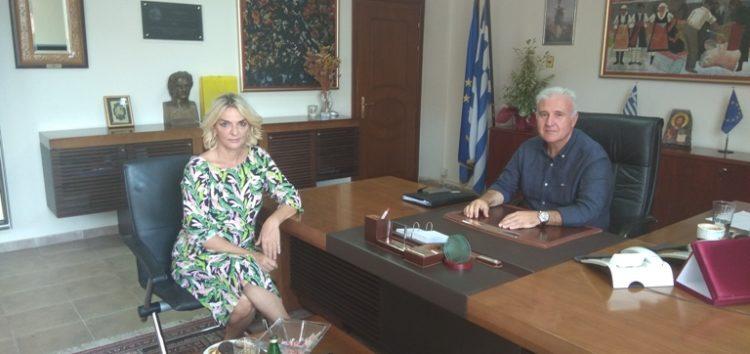 Επίσκεψη της βουλευτή Πέτης Πέρκας στο γραφείο του αντιπεριφερειάρχη Φλώρινας