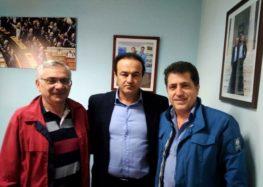 Συνάντηση του Γιάννη Αντωνιάδη με τον διοικητή του νοσοκομείου και τον διευθυντή της ουρολογικής κλινικής