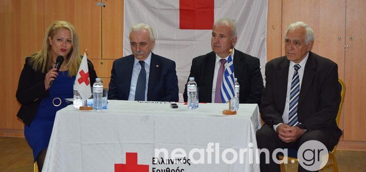 Στη Φλώρινα ο πρόεδρος του Ελληνικού Ερυθρού Σταυρού (video, pics)