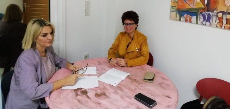 Συνάντηση της βουλευτή ΣΥΡΙΖΑ Φλώρινας Π. Πέρκα με την αντιπρύτανη του Πανεπιστημίου Δυτικής Μακεδονίας καθ. Α. Σπύρτου
