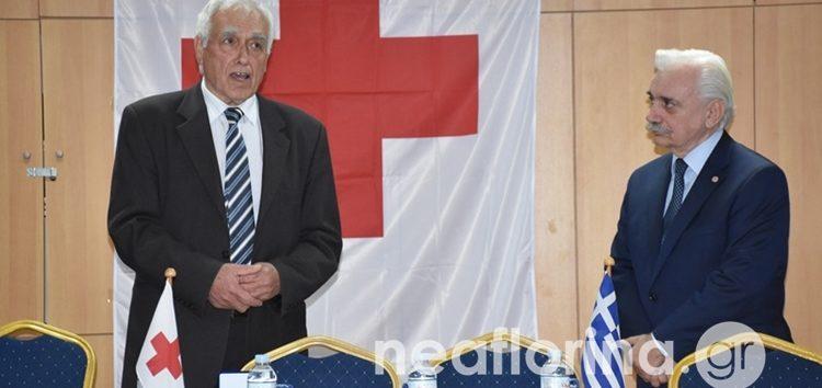 Τιμητική διάκριση στον Δημήτριο Ρίζο για την προσφορά του στον Ελληνικό Ερυθρό Σταυρό (video, pics)