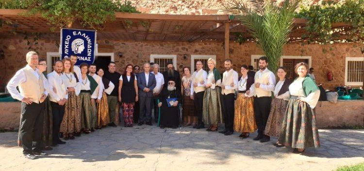 Τον Αρχιεπίσκοπο Σινά Δαμιανό ευχαρίστησε το Λύκειο Ελληνίδων Φλώρινας (video, pics)