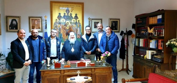 Επίσκεψη των μελών του Συλλόγου Φίλων Αγίου Όρους στον Μητροπολίτη