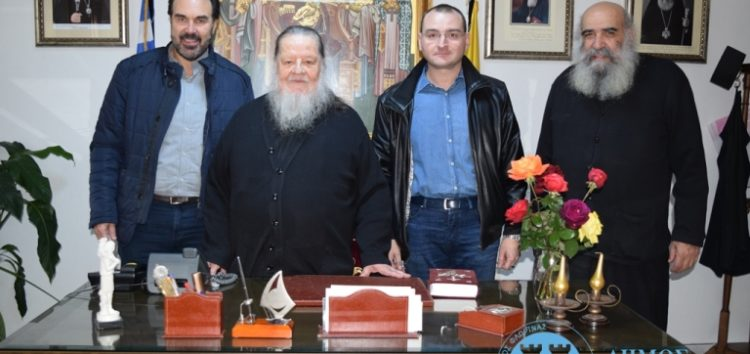 Συνάντηση του δημάρχου Φλώρινας και του προέδρου της κοινότητας Φλώρινας με τον Μητροπολίτη κ. Θεόκλητο