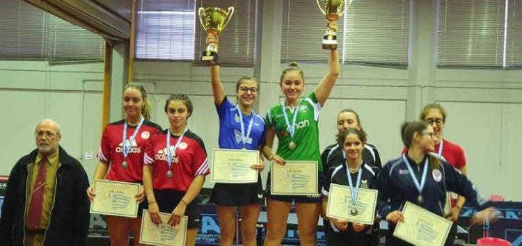 Η Φωτιάδου πρωταθλήτρια Ελλάδας στο διπλό νέων γυναικών (U21)