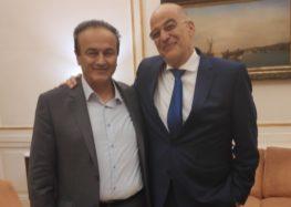 Συνάντηση του Γιάννη Αντωνιάδη με τον υπουργό Εξωτερικών
