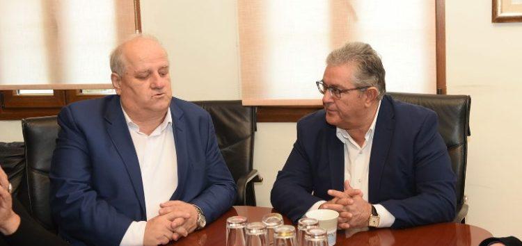 Συνάντηση του Δημήτρη Κουτσούμπα με τον δήμαρχο Πρεσπών Π. Πασχαλίδη