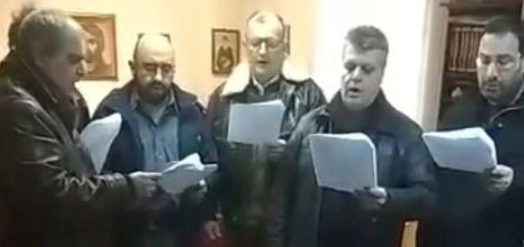 Χριστουγεννιάτικοι ύμνοι από τον Σύλλογο Ιεροψαλτών στον Μητροπολίτη Φλωρίνης (video)