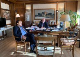 Συνάντηση του Γιάννη Αντωνιάδη με τον υπουργό Δικαιοσύνης