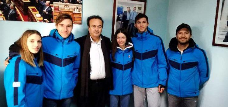Συνάντηση του βουλευτή Γιάννη Αντωνιάδη με τους αθλητές του ΑΟΦ που συμμετέχουν στους Χειμερινούς Ολυμπιακούς Αγώνες Νέων