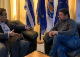 Συνάντηση του Γιάννη Αντωνιάδη με τον Γ.Γ. Πολιτικής Προστασίας