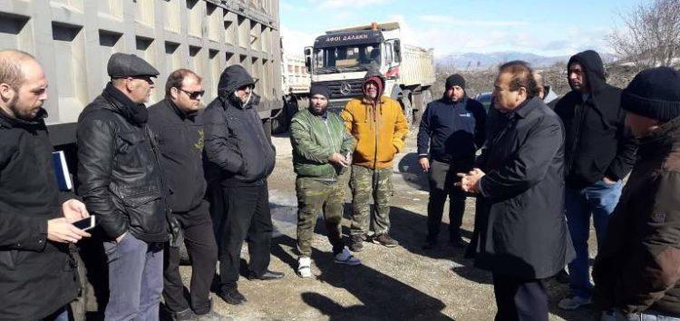 Συνάντηση του Γιάννη Αντωνιάδη με εκπροσώπους ιδιοκτητών και εργαζομένων στα φορτηγά που δραστηριοποιούνται στο ορυχείο ΑΗΣ Αμυνταίου