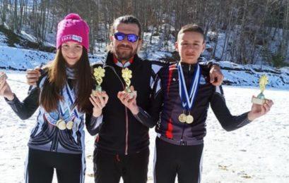 Δις χρυσοί οι Νεφέλη Τίτα και Ευάγγελος Αθανασίου στους Πανελλήνιους & FIS αγώνες Χιονοδρομίας